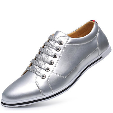 Men's Novelty Shoes Microfiber Spring / Fall Oxfords Gold / Silver