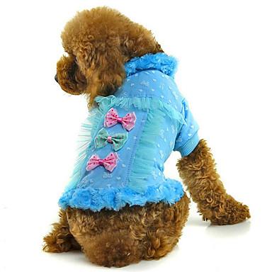 Hund Mäntel Hundekleidung Atmungsaktiv Lässig/Alltäglich Schleife Blau Rosa Kostüm Für Haustiere