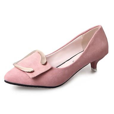 Damen High Heels Komfort Kaschmir Sommer Normal Walking Stöckelabsatz Schwarz Grau Rosa 5 - 7 cm