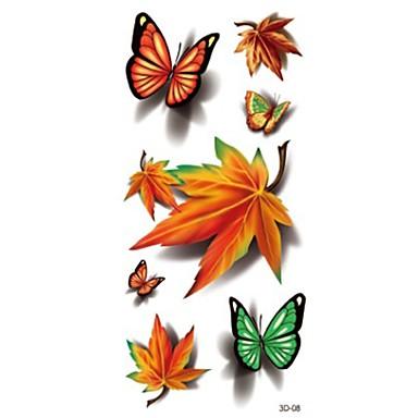 1 pcs كوستيوم هالوين / ياقة / مكياج مخصص الوشم المؤقت سلسلة الطوطم / سلسلة الحيوانات / سلسلة الزهور فلاش / Halloween / ياقة الفنون الجسم وجه / هيكل / أيادي