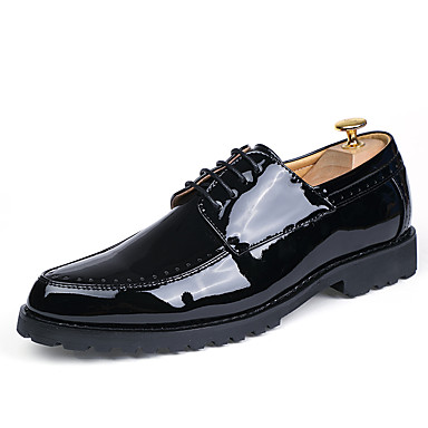 Men's Formal Shoes Patent Leather Spring / Fall Oxfords Black / Red / Party & Evening / Party & Evening / Dress Shoes