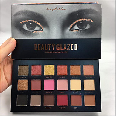 Makeup 18 Colors Eyeshadow Palette / Eye Shadow / Grooming Supplies Adult / For Women Professional Level Long Lasting Daily Makeup / Halloween Makeup / Party Makeup Makeup Cosmetic / Matte / Shimmer