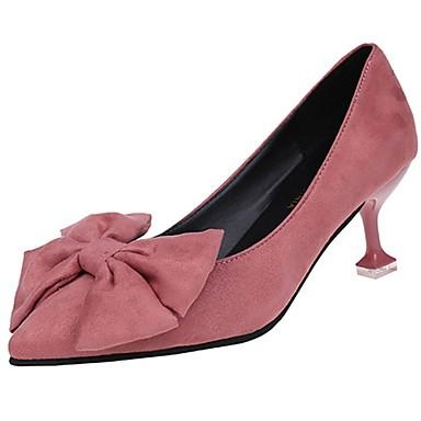 Női Cipő Kasmír Nyár Kényelmes Magassarkúak Tűsarok Erősített lábujj Csokor mert Ruha Fekete Sárga Rózsaszín
