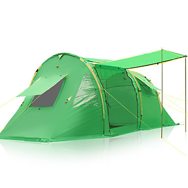 3-4 personer Telt Dobbelt camping Tent Familietelt Regn-sikker til Camping & Fjellvandring Andre Material CM