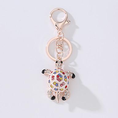 Turtle Keychain Gold Imitation Diamond, Alloy Fashion, Cute For