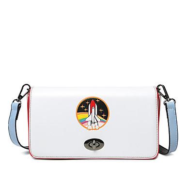 Damen Taschen PU Schultertasche Print für Hochzeit Veranstaltung / Fest Normal Sport Formal Ganzjährig Weiß Braun