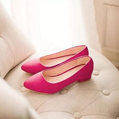 Damen Schuhe PU Sommer Komfort Flache Schuhe Für Normal Schwarz Rot