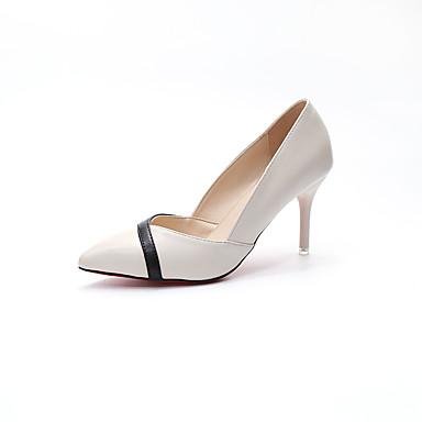 Damen Schuhe PU Frühling Sommer Pumps Komfort High Heels Stöckelabsatz Spitze Zehe Kombination für Büro & Karriere Party & Festivität