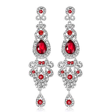Női Luxus Függők - Személyre szabott / Luxus / Geometrijski oblici Ezüst / Piros / Kék Geometric Shape Fülbevaló Kompatibilitás Esküvő /