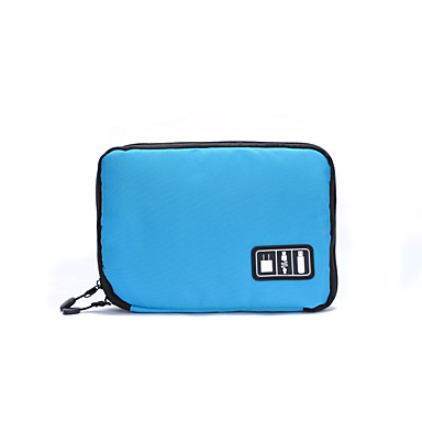 Travel Bag Travel Luggage Organizer / Packing Organizer Portable for USB Cable Clothes Oxford cloth 24*16*2