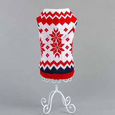 Dog Sweater / Hoodie Dog Clothes Snowflake Cotton Costume For Pets Men's / Women's Casual / Daily / Halloween