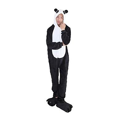 Felnőttek Kigurumi pizsama Panda Onesie pizsama Φανελένιο Ύφασμα Fekete / Fehér Cosplay mert Férfi és női Allati Hálóruházat Rajzfilm Halloween Fesztivál / ünnepek