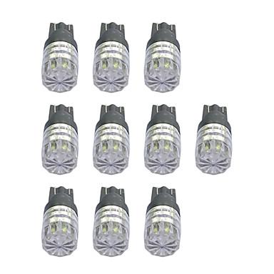 10pcs T10 Autó Izzók 1W COB 55lm LED izzók Irányjelző