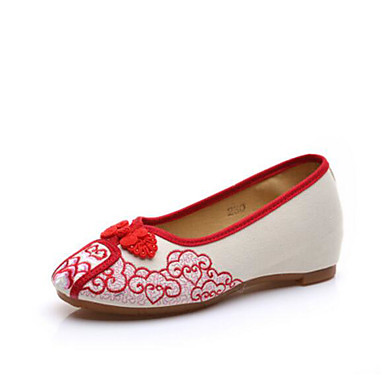 Damen Loafers & Slip-Ons Komfort Sommer Stoff Normal Schwarz Rot Blau Flach