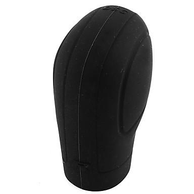 voordelige Auto-interieur accessoires-Zwarte zachte silicone nonslip auto shift knop versnelling stick cover bescherming