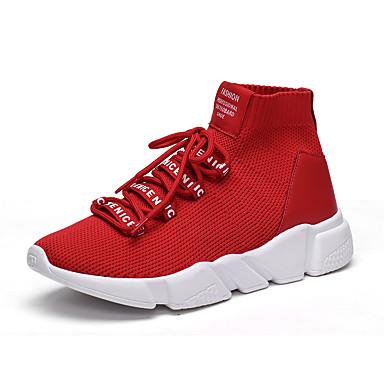 Férfi cipő Lélegző háló Tavasz / Ősz Kényelmes Tornacipők Fitnesz és cross oktatás Fekete / Piros / Fekete / fehér