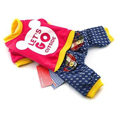 Hund Overall Hundekleidung Buchstabe & Nummer Gelb Fuchsia Rosa Baumwolle Daune Kostüm Für Haustiere Herrn Damen Lässig / Alltäglich
