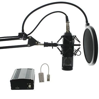 GM12 Vezetékes Mikrofon Kondenzátormikrofon Kézi mikrofon Kompatibilitás PC