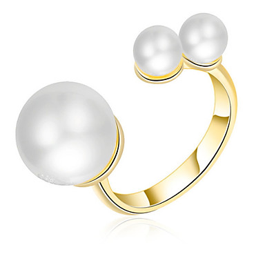 Damen Eheringe Bandringe Imitierte Perlen Personalisiert Luxus Klassisch Grundlegend nette Art Elegant Modisch Künstliche Perle Aleación