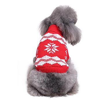 Hund Pullover Hundekleidung Lässig/Alltäglich Schneeflocke Kostüm Für Haustiere
