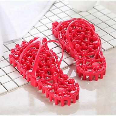 Damen Slippers & Flip-Flop Komfort Sommer PVC Normal Rot Flach