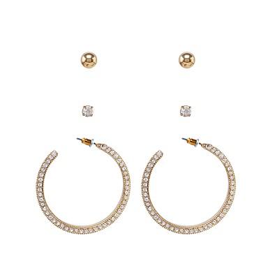 olcso Női ékszerek-Női Fülbevaló zárak Személyre szabott Divat Hamis gyémánt Fülbevaló Ékszerek Arany Kompatibilitás Napi Hétköznapi Utca