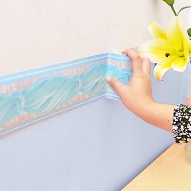 Einfache Haus Dekoration Stilvoll Wandverkleidung, PVC/Vinyl Stoff Selbstklebend Rand, Zimmerwandbespannung