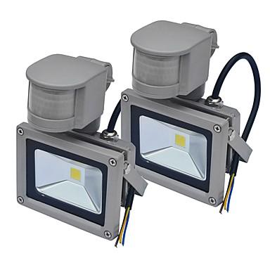 JIAWEN 10 W LED projektorok Érzékelő Kültéri világítás Meleg fehér Hideg fehér AC85-265