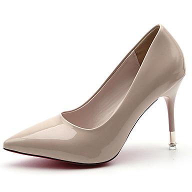 Mujer Zapatos PU Primavera verano Pump Básico Tacones Tacón Stiletto Dedo Puntiagudo Rojo / Verde / Rosa bChsWh6nlf