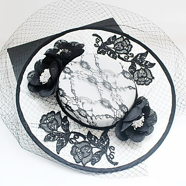 Chiffon / Lace / Fabric Fascinators / Hats with 1 Wedding / Special Occasion / Birthday Headpiece