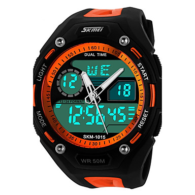 cheap Women's Watches-SKMEI Ladies Sport Watch Wrist Watch Quartz Black 30 m Water Resistant / Waterproof Calendar / date / day Chronograph Analog - Digital Black / Blue Orange / Black Black / Gray / Dual Time Zones