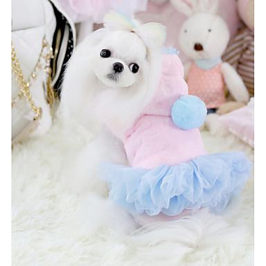 Hund Kleider Hundekleidung Prinzessin Blau / Rosa Polar-Fleece Kostüm Für Haustiere Lässig / Alltäglich