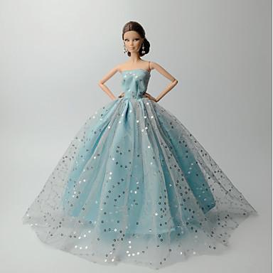 Kleider Kleid Für Barbie-Puppe Leinen/Baumwolle Satin / Tüll Kleid Für Mädchen Puppe Spielzeug