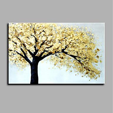 Handgemalte Blumenmuster/Botanisch Horizontal,Art déco/Retro Klassisch & Zeitlos Ein Panel Leinwand Hang-Ölgemälde For Haus Dekoration
