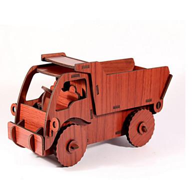 Játékautók 3D építőjátékok Fejtörő Wood Model Autó DIY Fa Munkagépek Gyermek Uniszex Ajándék