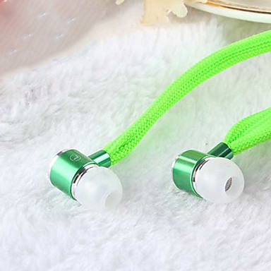 In Ear Wired Headphones Dynamic Aluminum Alloy Mobile Phone Earphone with Microphone / Noise-isolating Headset