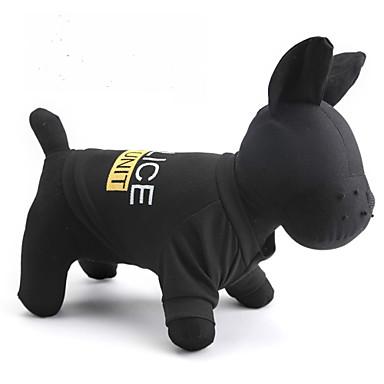Kat Hund Trøye/T-skjorte Hundeklær Bokstav & Nummer Politi/Militær Svart Terylene Kostume For kjæledyr