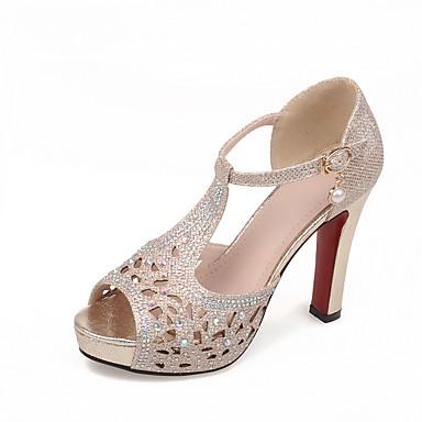 Mujer Zapatos Sintéticos Otoño invierno Pump Básico Tacones Tacón Stiletto Punta abierta Pedrería / Hebilla Negro / Plateado / Boda Livraison Gratuite Nouveaux Styles QLW4yL4I