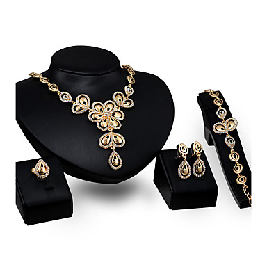 Women's Jewelry Set - Gold Plated Flower Personalized, Fashion Include Pendant Necklace Gold For Party / Engagement