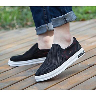 Herrn Schuhe Atmungsaktive Mesh Tüll Sommer Komfort Loafers & Slip-Ons für Normal Weiß Schwarz Blau