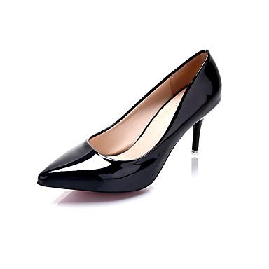 Damen Schuhe PU Frühling Sommer Komfort Pumps formale Schuhe High Heels Stöckelabsatz Spitze Zehe Für Kleid Weiß Schwarz Gelb