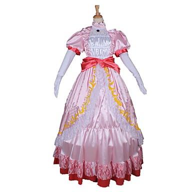Einteilig/Kleid Prinzessin Märchen Cosplay Fest/Feiertage Halloween Kostüme Vintage Kleider Taillengürtel Halloween Karneval Frau Unisex