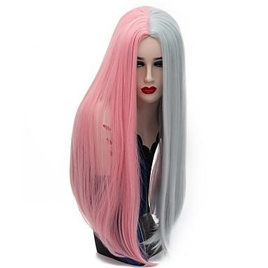 Szintetikus parókák Egyenes Szürke / Pink Női Sapka nélküli Carnival Paróka / Halloween paróka / Party paróka Hosszú Szintetikus haj