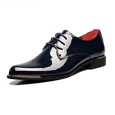 Men's Novelty Shoes Patent Leather Spring / Fall Comfort Oxfords Black / Blue / Wedding / Party & Evening / Dress Shoes