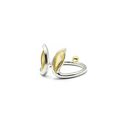 Anéis Fashion Diário Jóias Prata de Lei Feminino / Meninas Anéis Grossos 1pç,Tamanho Único Dourado / Prateado