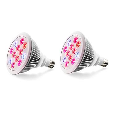 2pcs 980lm E27 Voksende lyspære 12 LED perler Høyeffekts-LED Blå Rød 85-265V