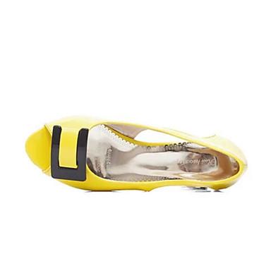 Damen Schuhe PU Sommer Komfort Sandalen Für Normal Weiß Gelb Rosa