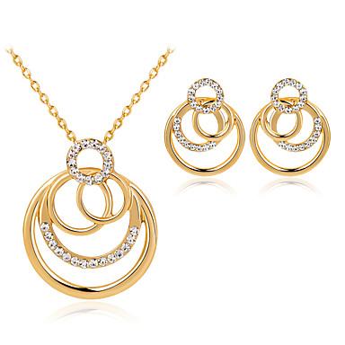 Damen Tropfen-Ohrringe Halskette Modisch individualisiert Simple Style Aleación Geometrische Form Für Hochzeit Party Geburtstag Verlobung