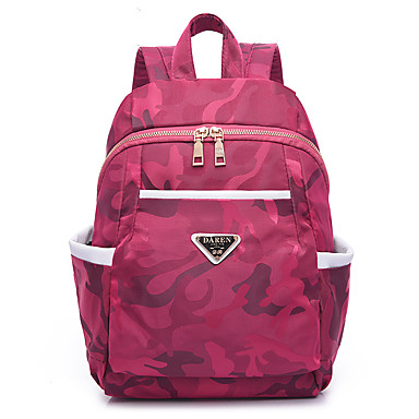 Women's Bags Oxford Cloth Backpack for Event / Party / Outdoor / Office & Career Black / Amethyst / Fuchsia