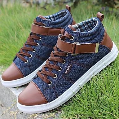 للرجال أحذية جينز خريف / شتاء بوتي (جزمة الكاحل) أحذية رياضية البوط القصير / بوط الكاحل أسود / أزرق